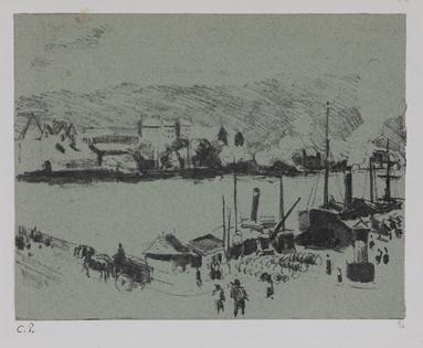 Camille Pissarro - Quai Boïeldieu, à Rouen