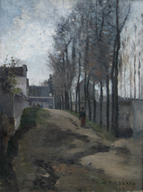 Camille Pissarro - Le Chemin, Paysage Hivernal