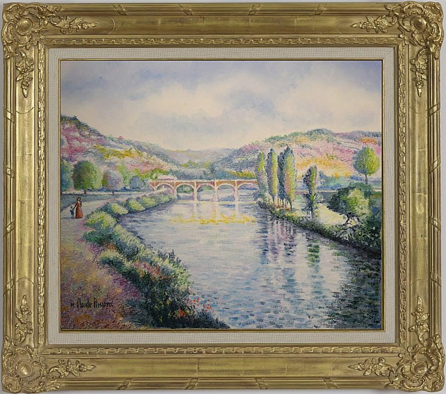 L'Orne à Clécy (Normandie) - H. Claude Pissarro (b. 1935 - )