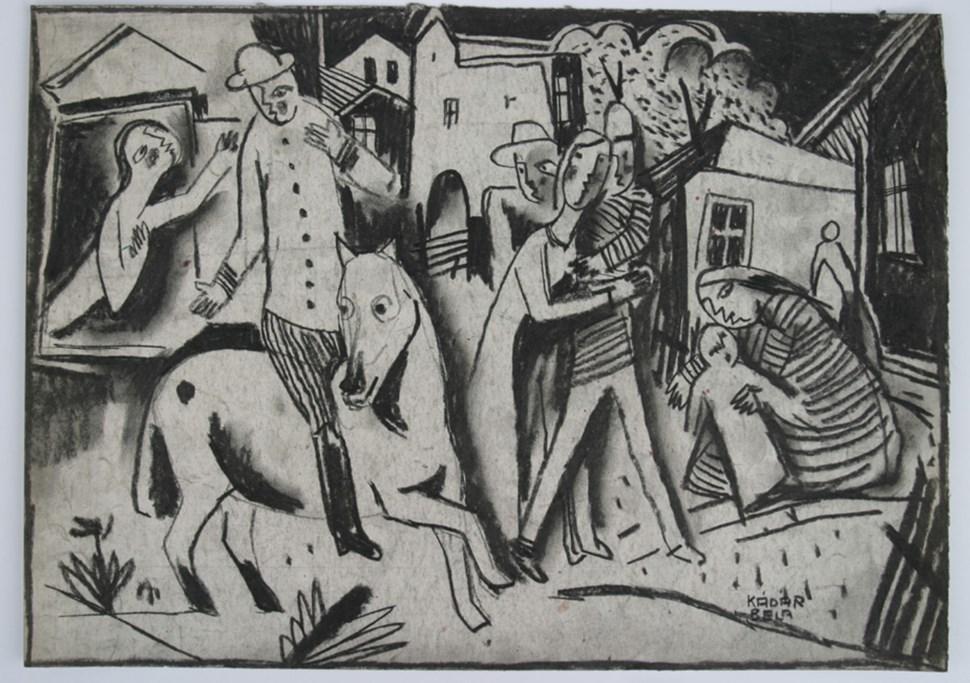 Figures in a Village - Béla Kádár (1877 - 1956)