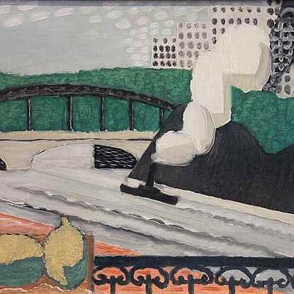 La Seine et la Tour Eiffel, vue d'un balcon - Louis Marcoussis (Łódź 1878/1883 - Cusset 1941)