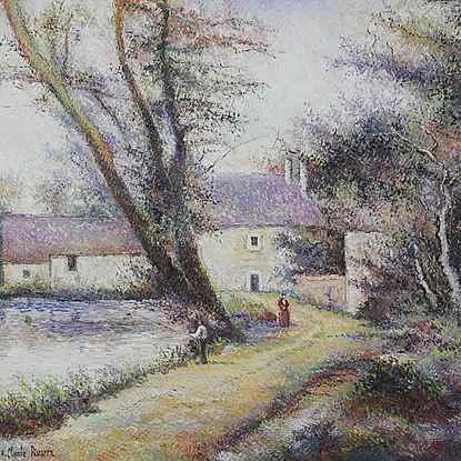 L'Orme du Moulin - H. Claude Pissarro (b. 1935 - )