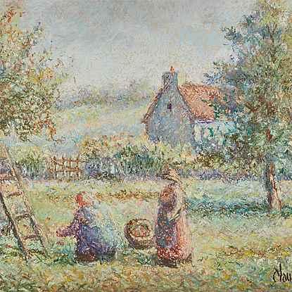 La Cueillette - H. Claude Pissarro (b. 1935 - )