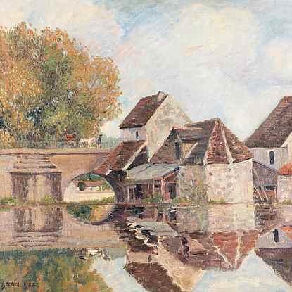 Petit Lavoir du Pont Pierre, Morêt-sur-Loing - Georges Manzana Pissarro (1871 - 1961)