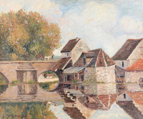 Georges Manzana Pissarro - Petit Lavoir du Pont Pierre, Morêt-sur-Loing