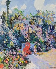 Corinne and Claude Pissarro - La Petite Rachel et sa Mère au Jardin