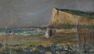 Norbert Goeneutte - Sur la plage, Le Tréport