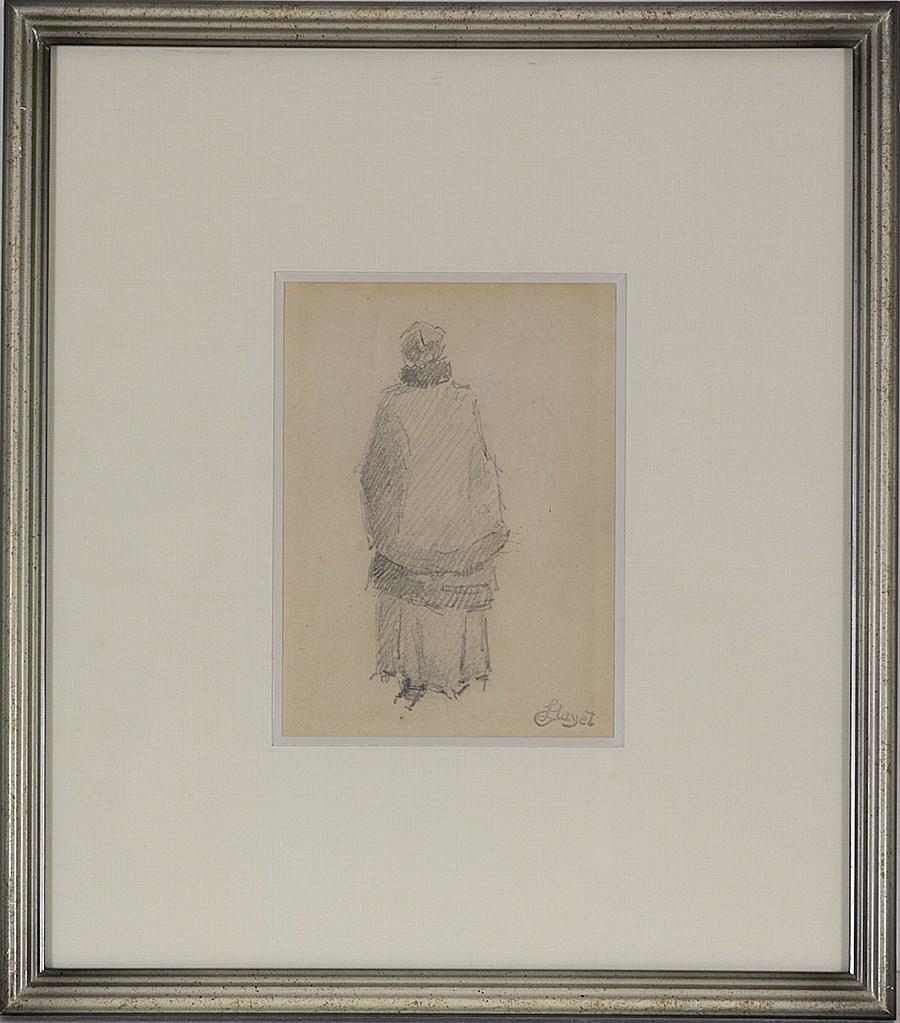 Femme de Dos - Louis Hayet (1864 - 1940)