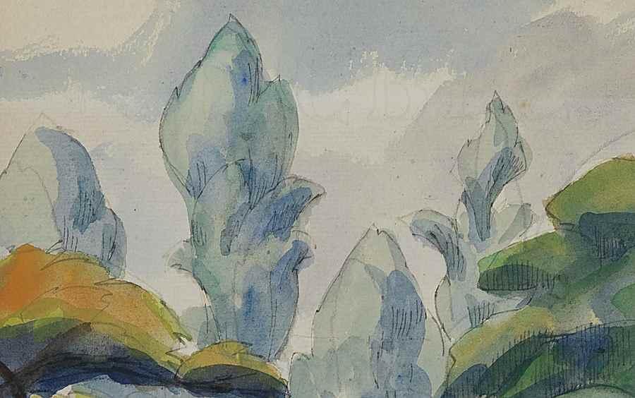 Deux Personnages dans un Jardin - Paulémile Pissarro (1884 - 1972)