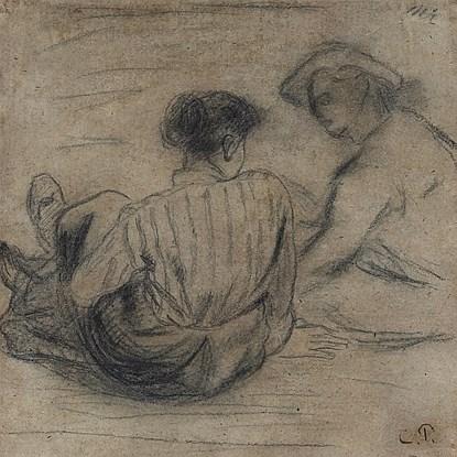 Deux Paysans Assis - Camille Pissarro (1830 - 1903)