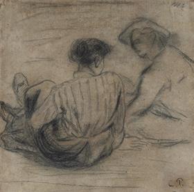 Camille Pissarro - Deux Paysans Assis
