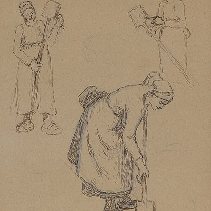 Femmes Travaillant - Camille Pissarro (1830 - 1903)