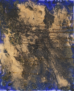 Lélia Pissarro, Contemporary - Abstract Composition in Blue & Gold 2