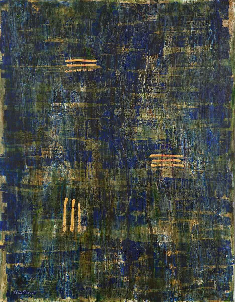 Rhino sauvage sous la pluie, ta force ma taille - Lélia Pissarro, Contemporary (b. 1963 - )
