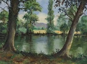 Paulémile Pissarro - Bord de l'Orne