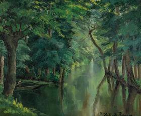 Paulémile Pissarro - Barque sur la rivière