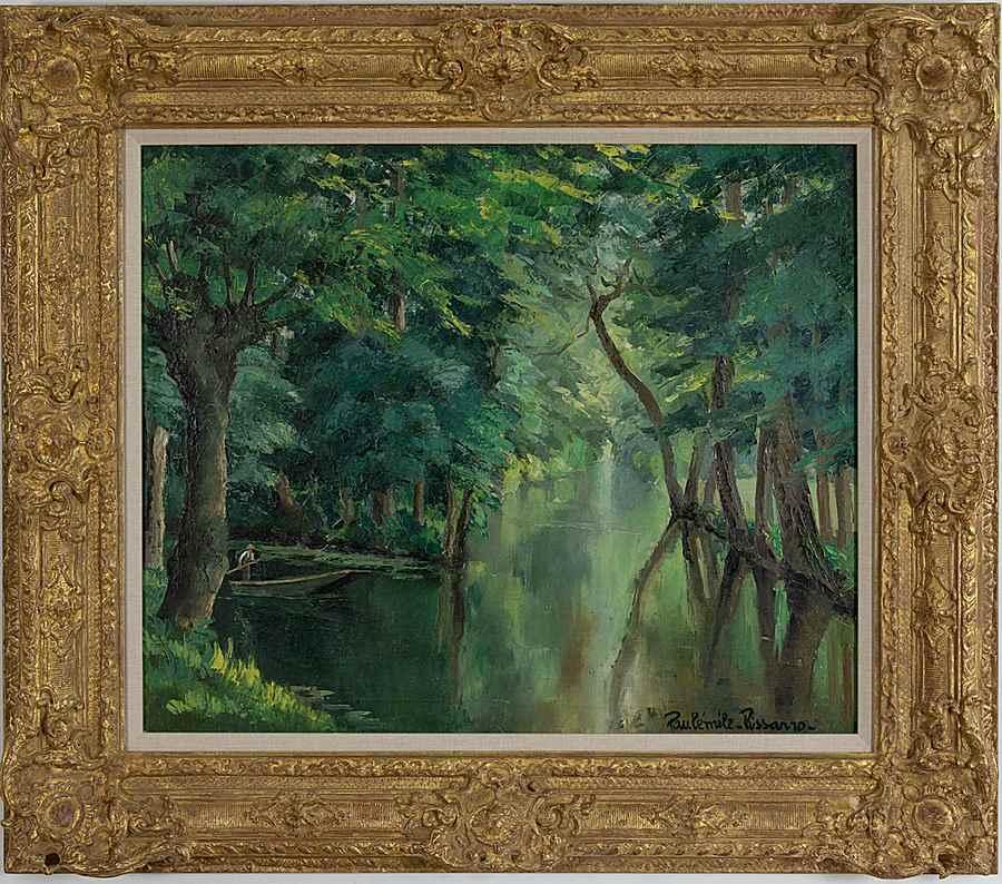 Barque sur la rivière - Paulémile Pissarro (1884 - 1972)