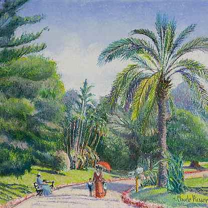 Les Jardins de Monte-Carlo - H. Claude Pissarro (b. 1935 - )