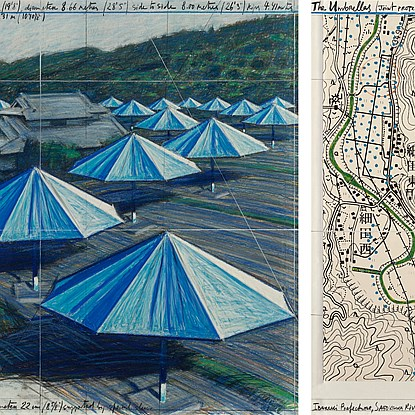 The Umbrellas, Joint Project for Japan & USA - Christo (1935 - 2020)