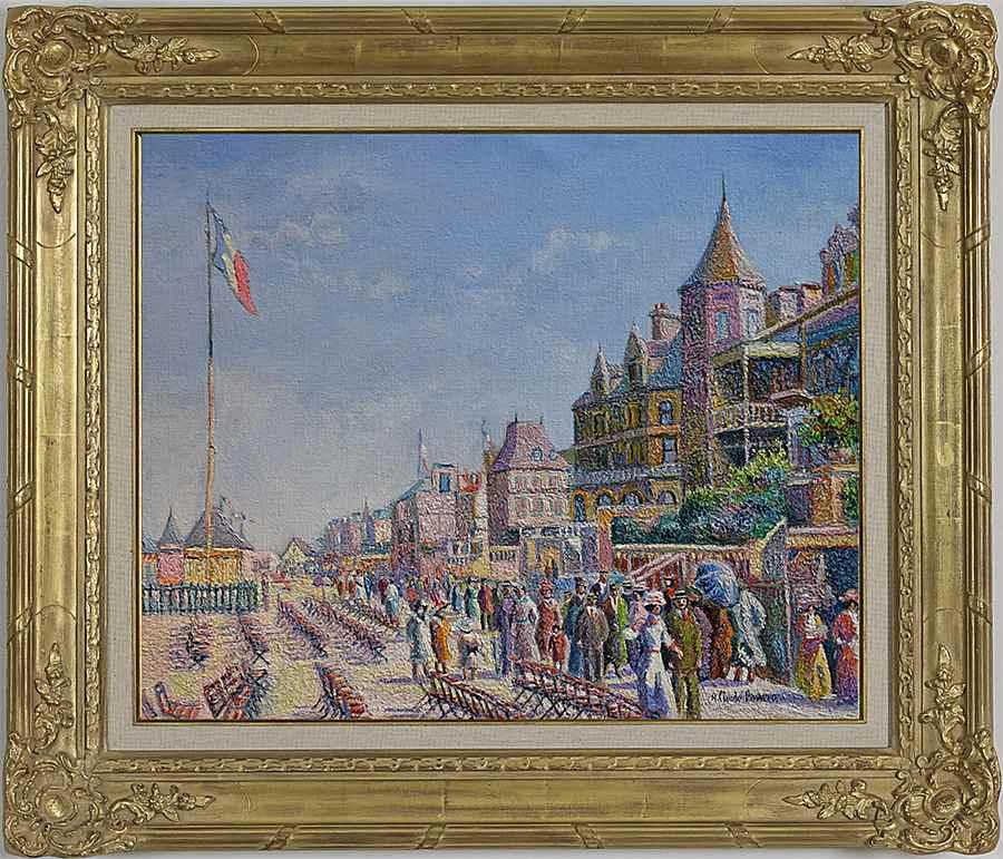 En Fin de Matinée, les Planches (Deauville) - H. Claude Pissarro (b. 1935 - )
