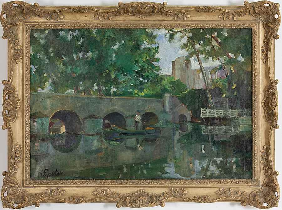 River Landscape - Henri Epstein (1892 - 1944)