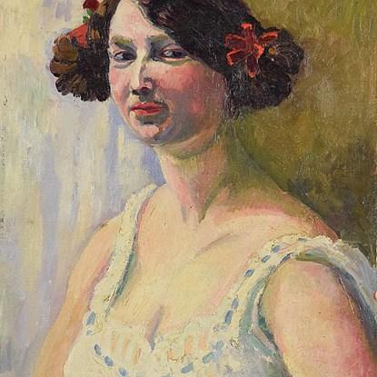 Portrait of a Woman - Ludovic-Rodo Pissarro (1878 - 1952)