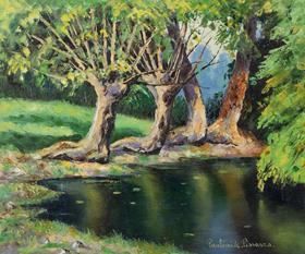 Paulémile Pissarro - La Mare et les Vieux Saules