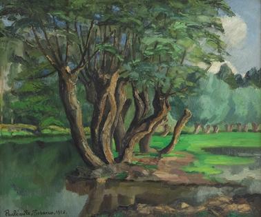 Paulémile Pissarro - L'Arbre au Bord de l'Eau