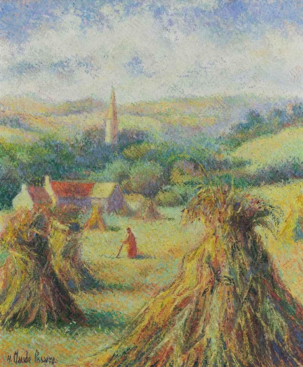 Moisson à Saint-Omer - H. Claude Pissarro (b. 1935 - )