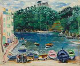 Moïse Kisling - Le Port de Portofino