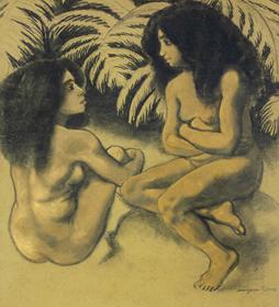 Georges Manzana Pissarro - Deux Baigneurs
