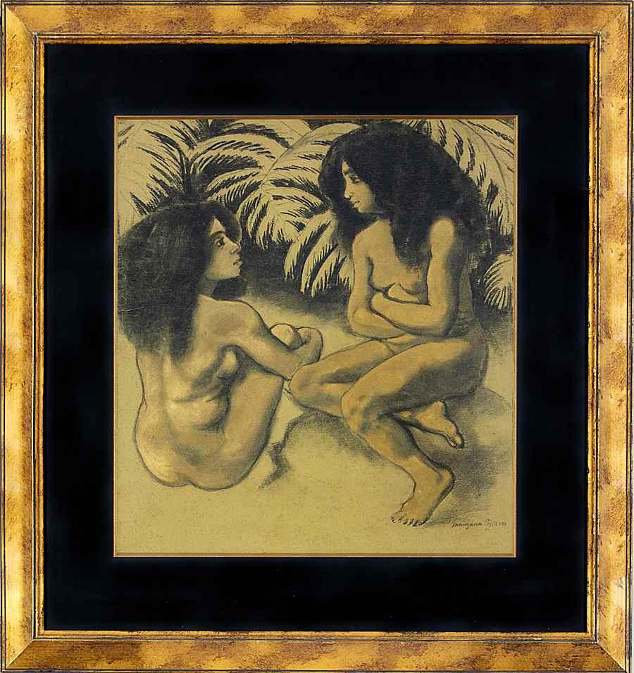 Deux Baigneurs - Georges Manzana Pissarro (1871 - 1961)