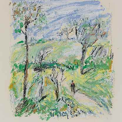 Promenade dans la Campagne - Hugues Pissarro dit Pomié (b. 1935 - )