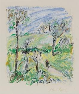 Hugues Pissarro dit Pomié - Promenade dans la Campagne