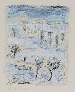Hugues Pissarro dit Pomié - Promenade dans la Neige
