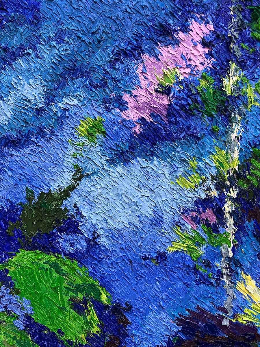 Roger Howard's ferns - Lélia Pissarro, Figurative (b. 1963 - )