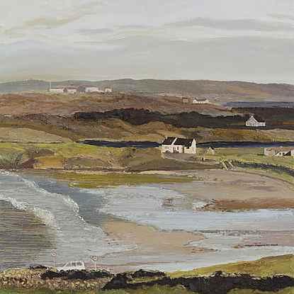 La Maison de Sean Duffy à Maghery (Marée Basse en Hiver) - Hugues Pissarro dit Pomié (b. 1935 - )