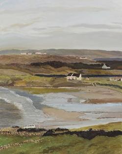 Hugues Pissarro dit Pomié - La Maison de Sean Duffy à Maghery (Marée Basse en Hiver)