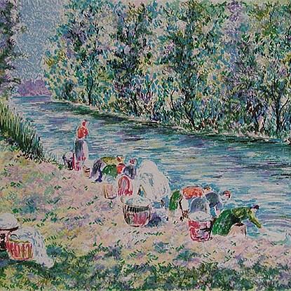 Series - Les Lavandières<br /> - Lélia Pissarro, Figurative (b. 1963 - )