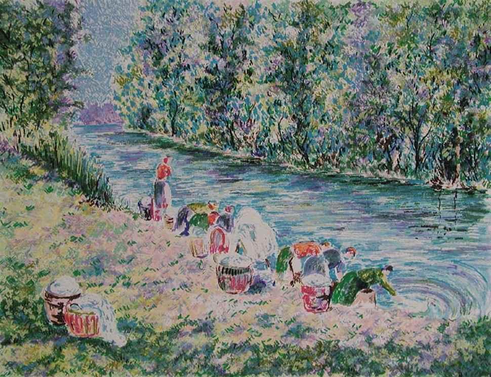 Series - Les Lavandières - Lélia Pissarro, Figurative (b. 1963 - )