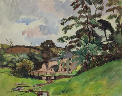 Ludovic-Rodo Pissarro - Paysage Normand, Port en Bessin
