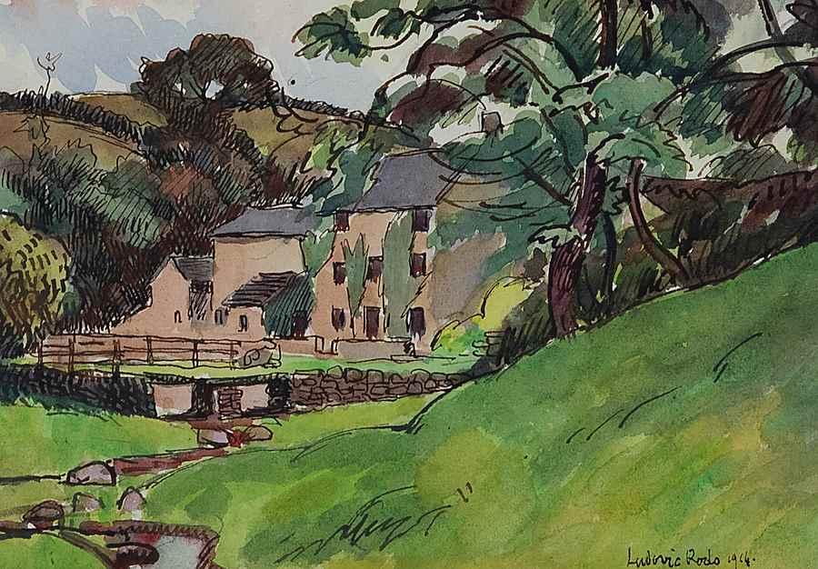 Paysage Normand, Port en Bessin - Ludovic-Rodo Pissarro (1878 - 1952)