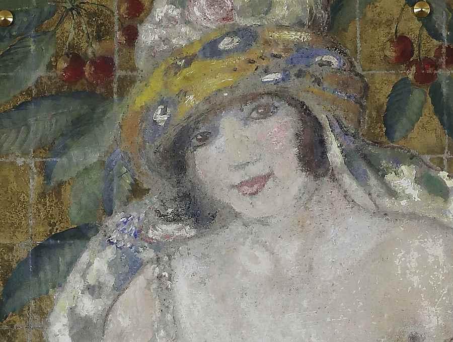 L'Orientale au Chat - Georges Manzana Pissarro (1871 - 1961)