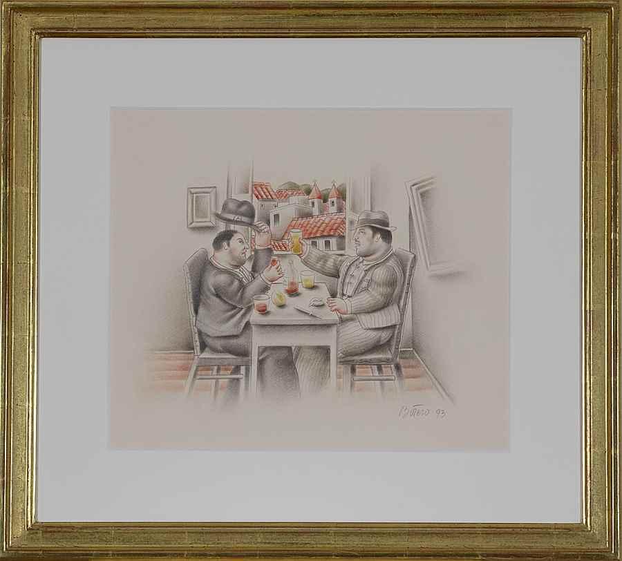 El Brindis - Fernando Botero (1932 - )