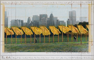 Christo - The Gates, Project for Central Park, New York City