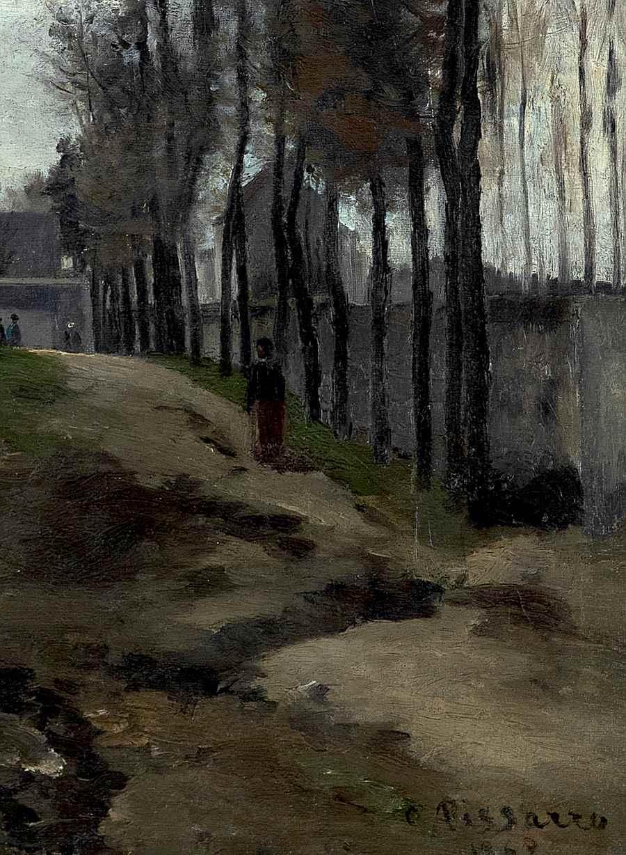 Le Chemin, Paysage Hivernal - Camille Pissarro (1830 - 1903)