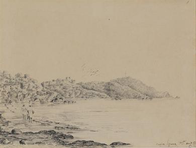 Camille Pissarro - Deux femmes en bord de mer, St Thomas