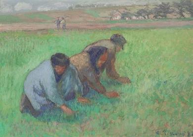 Camille Pissarro - Les Sarcleurs