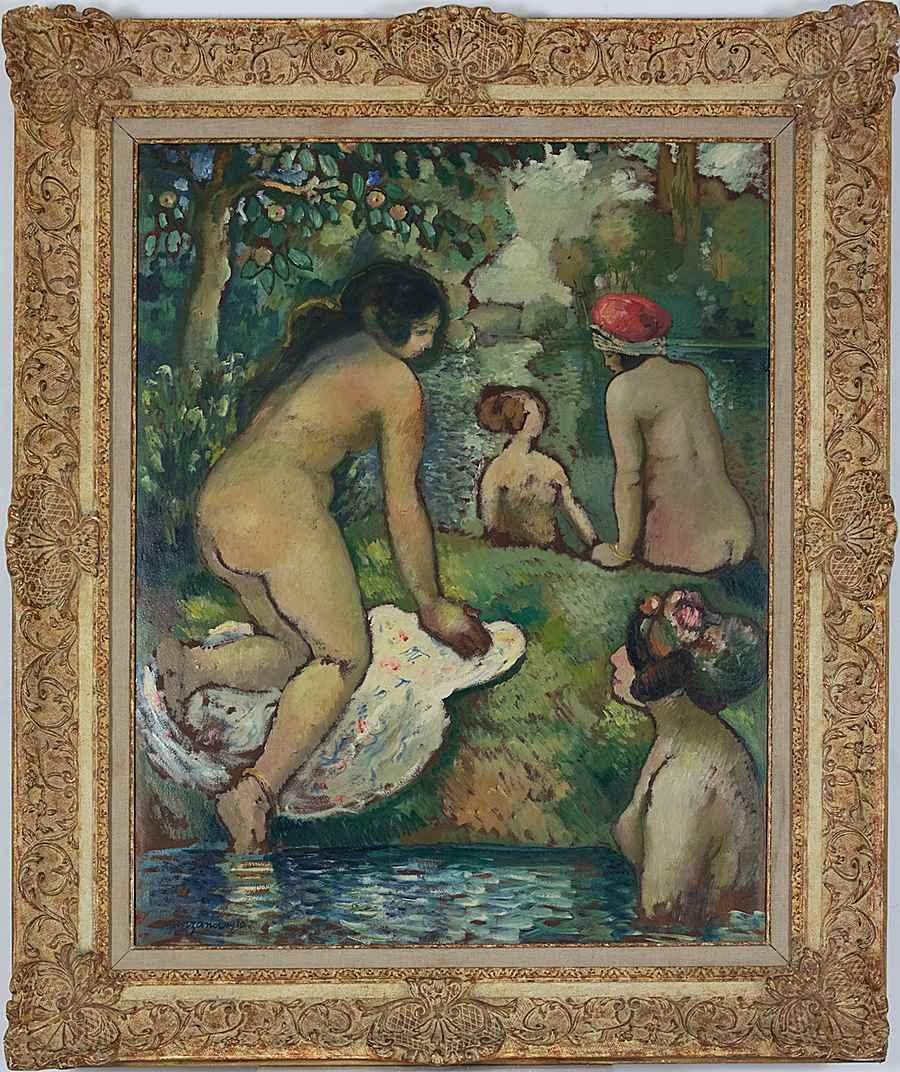 Baigneuses en Bord de Rivière - Georges Manzana Pissarro (1871 - 1961)