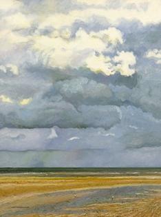 Hugues Pissarro dit Pomié - Deux Mouettes et les Nuages, Côte Normande